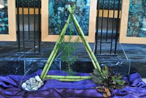 kerst C-jaar driehoekschikking 1e advent 'richt je dan op'